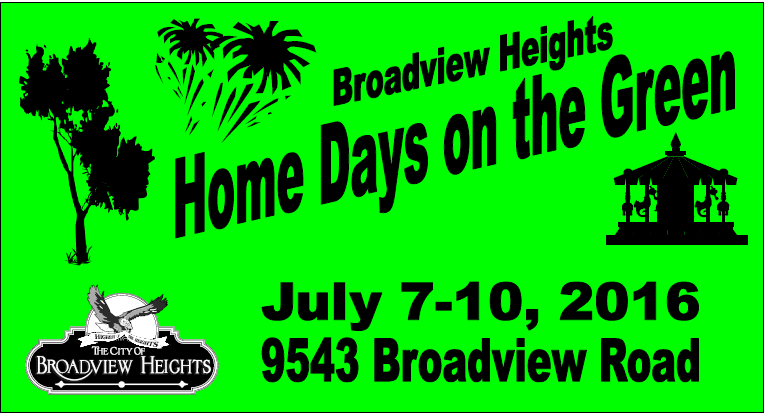 2016 Logo for Home Days on the Green in Broadview Heights Ohio