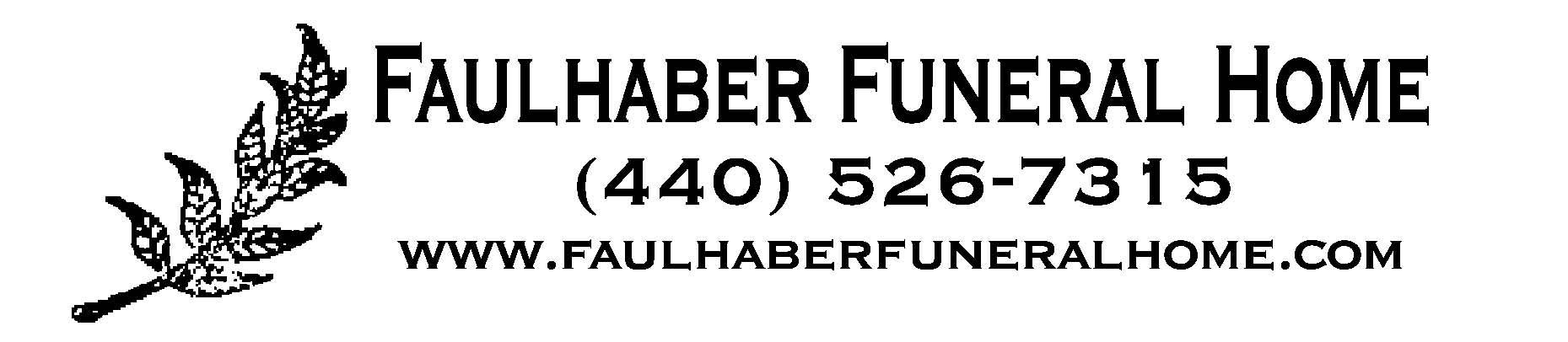 Faulhaber funeral home logo