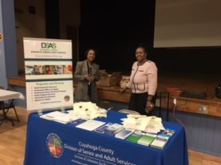 Display table for Cuyahoga County Division of Senior and Adult Services