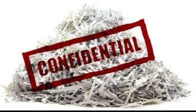 Pile of shredded documents