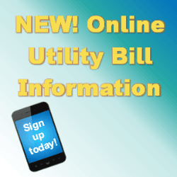 online utility bill payment sign with cell phone picture