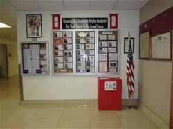 Display of Broadview Heights residents currently serving in the Military