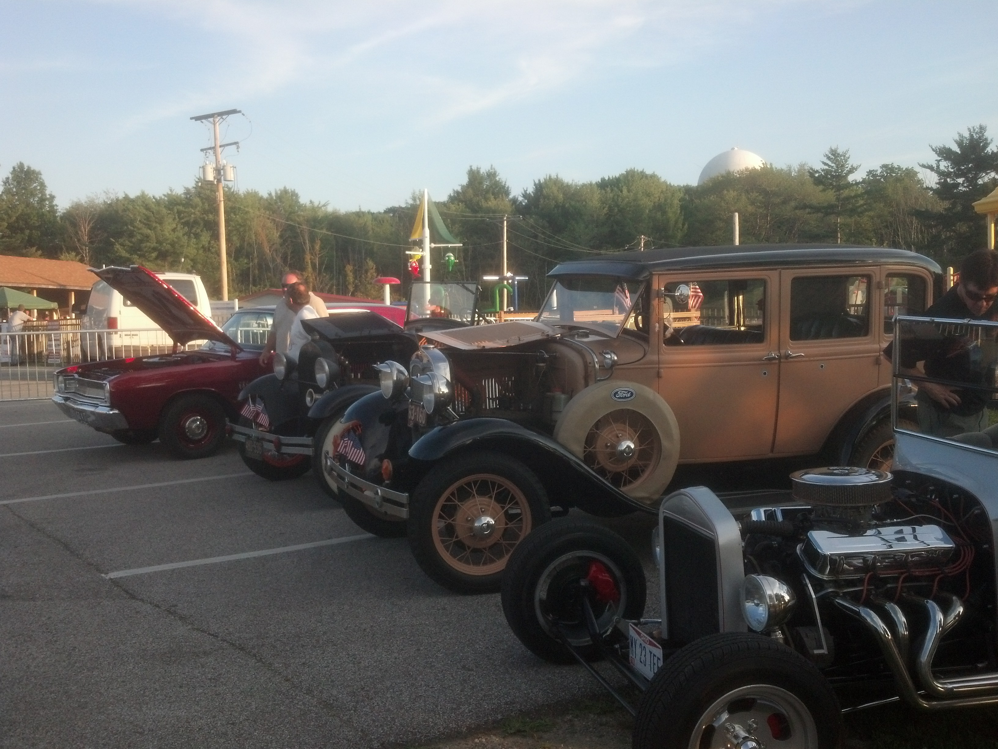 Cars on display at Nights in the Heights Concert & Cruise in