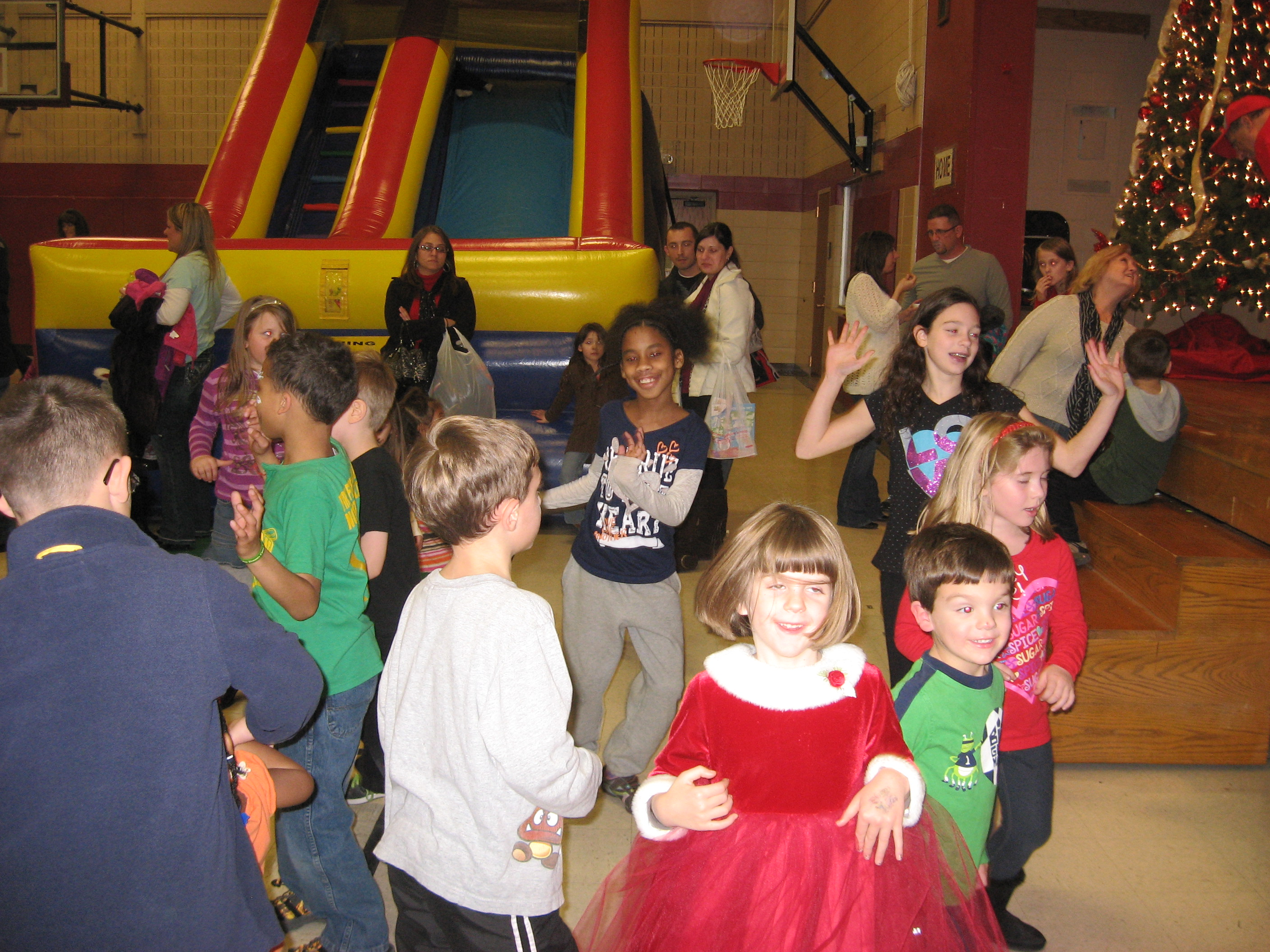 Children dancing at a Christmas Party