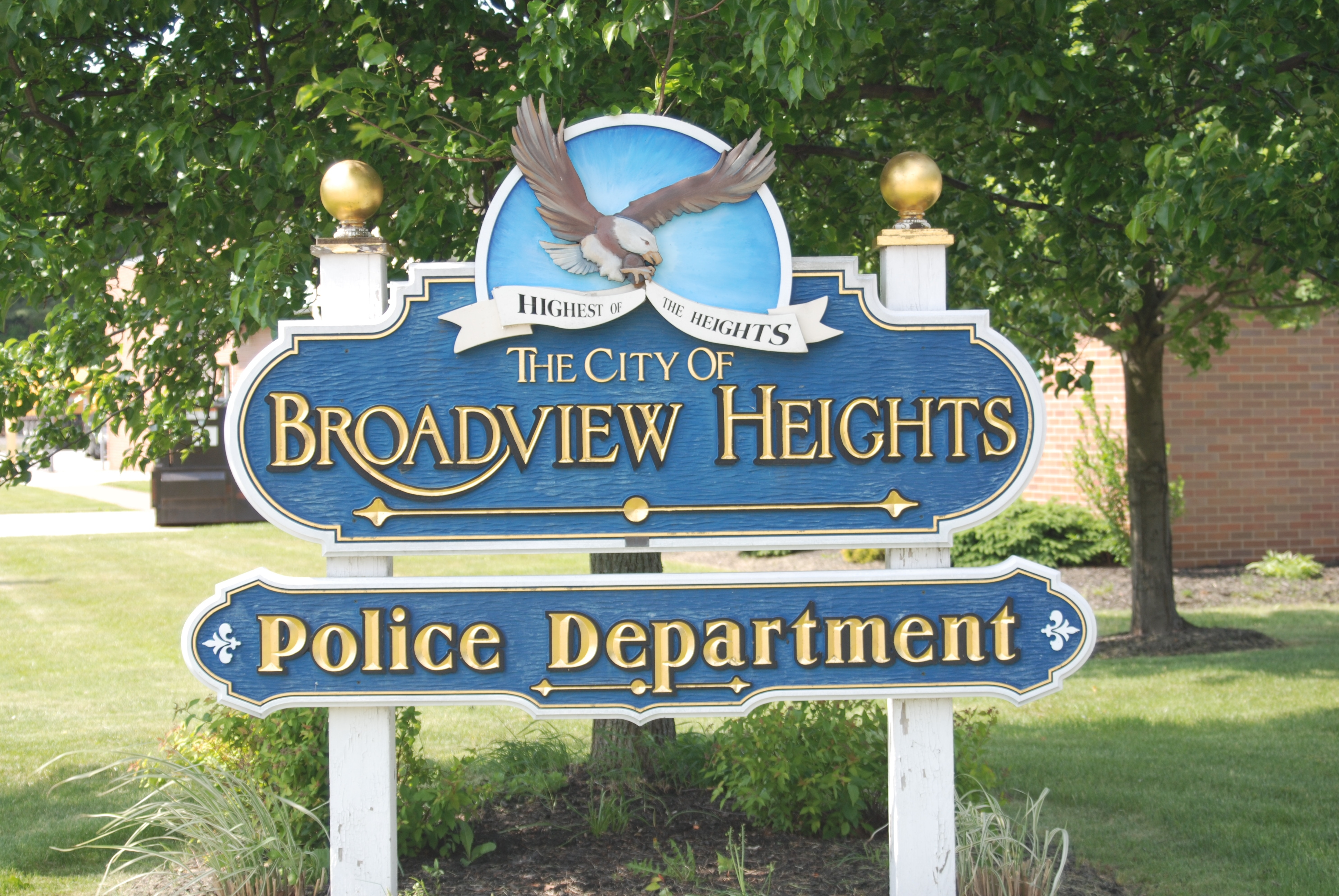 Broadview Heights Police Department Sign